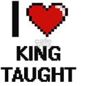 I love King Taught digital design T-Shirt