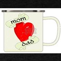 Mom And Dad Enamel Mug T-Shirt