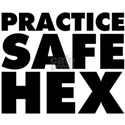 Practice Safe Hex White T-Shirt