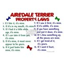 Airedale Terrier Property Laws 2 White T-Shirt