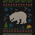 Black Bear Hunting Christmas Ugly Holiday T-Shirt