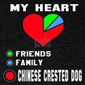 My Heart, Friends, Family, Chinese Cr T-Shirt