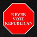 Never vote republican T-Shirt