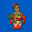 African Woman with Fruit T-Shirt