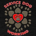 SERVICE DOG EMBLEM WORDS T-Shirt