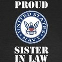 Proud US Navy Sister In Law Long Sleeve T-Shirt