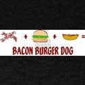 Bacon Burger Dog Ash Grey T-Shirt