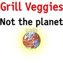 grill veggies not the planet White T-Shirt