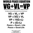 WORLD PEACE EQUATION White T-Shirt