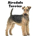 Airedale Terrier White T-Shirt