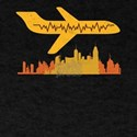 Airplane Pilot Pilot Heartbeat Flying T-Shirt