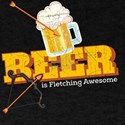 Funny Archery Beer is Fletching Awesome Bo T-Shirt