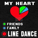 My Heart Friends, Family, Line Dance T-Shirt