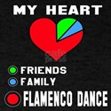 My Heart Friends, Family, Flamenco Da T-Shirt