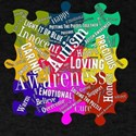 Autism Awareness Word Cloud Pver Puzzle Pi T-Shirt