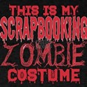 This Is My Scrapbooking Zombie Costume Hal T-Shirt