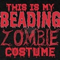 This Is My Beading Zombie Costume Hallowee T-Shirt