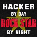 Hacker By Day, Rock Star By night T-Shirt