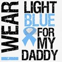 IWearLightBlue Daddy Baseball Jersey