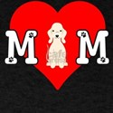 Dog Mom Heart Paw Prints Bedlington Terrie T-Shirt