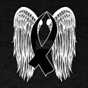 Winged Awareness Ribbon (Black) T-Shirt