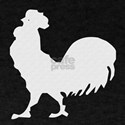 White Rooster Silhouette T-Shirt