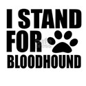 I Stand For Bloodhound Dog Shirt
