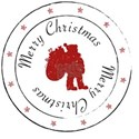 Merry Christmas Santa Claus Stamp with Sta T-Shirt