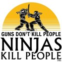 Guns Don't Kill People. NINJAS KILL PEOPLE. Mug