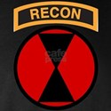 7th Infantry Div with Recon T Long Sleeve Dark T-S