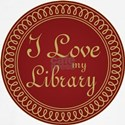 Ornate I Love My Library T-Shirt