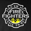 Firefighters, Hot! Long Sleeve Dark T-Shirt