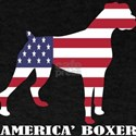 American Boxer Dog Flag Memorial Day USA T-Shirt