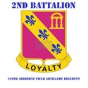 DUI - 2nd Bn - 319th Airborne FA Regt with Text