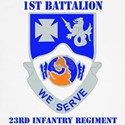 DUI - 1st Bn - 23rd Infantry Regt with Text Baseba
