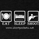 ShortPockets 'Eat, Sleep, Shoot' Dark Color Tee