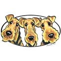 Airedale Terrier Lover White T-Shirt