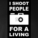 I Shoot People For A Living Long Sleeve Dark T-Shi
