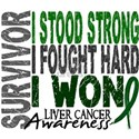 Survivor 4 Liver Cancer Shirts and Gifts White T-S