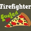 FIREFIGHTER Funny Fueled By Pizza T-shirts