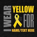Yellow Awareness Ribbon Customized T-Shirt