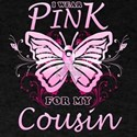 I Wear Pink For My Cousin Butterfly T-Shirt