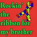 Autism Ribbon for My Brother Dark T-Shirt