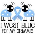 Grammie Light Blue Awareness White T-Shirt