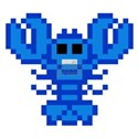 8bit lobster blue Tee