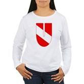 Scuba Flag Letter U Women's Long Sleeve T-Shirt