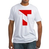 Scuba Flag Letter T Fitted T-Shirt