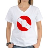 Scuba Flag Letter O Women's V-Neck T-Shirt
