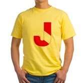Scuba Flag Letter J Yellow T-Shirt