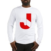 Scuba Flag Letter J Long Sleeve T-Shirt